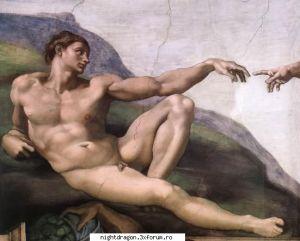 Michelangelo - Crearea lui Adam