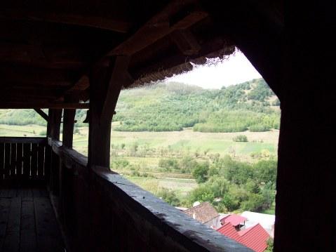 Biserica fortificata din Axente Sever  priveliste din clopotnita