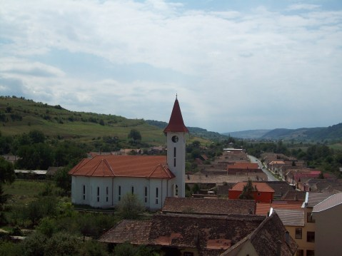 Biserica fortificata din Axente Sever priveliste